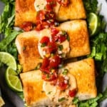 featured baked chicken chimichangas