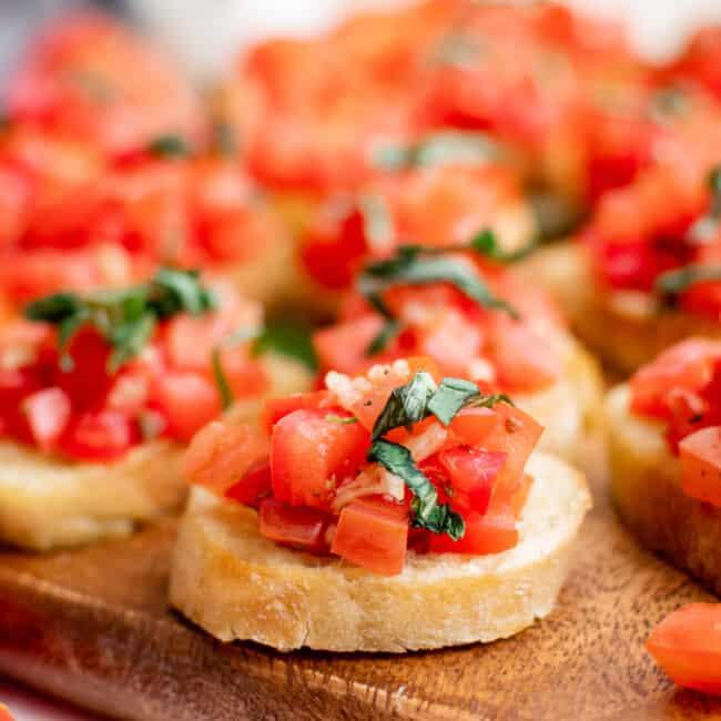 featured tomato bruschetta recipe