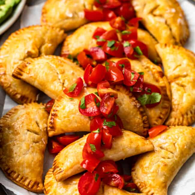 featured baked chicken empanadas