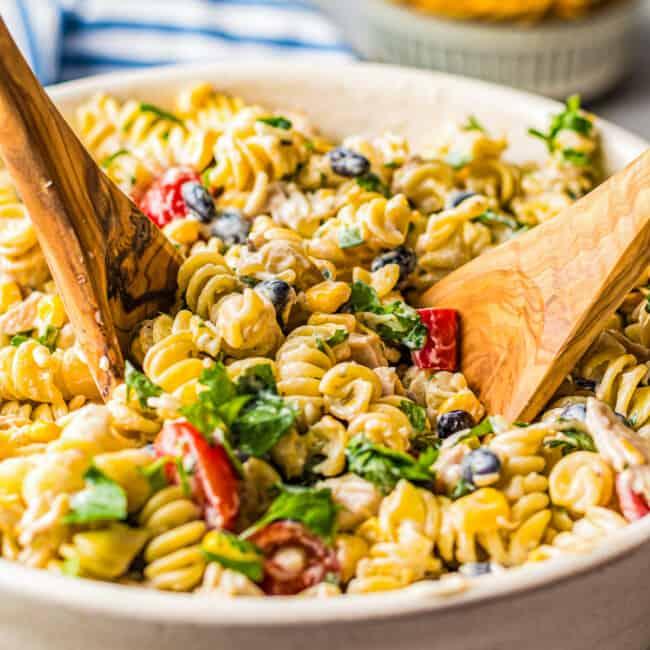featured ranch chicken pasta salad