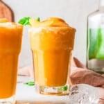 featured frozen peach margaritas