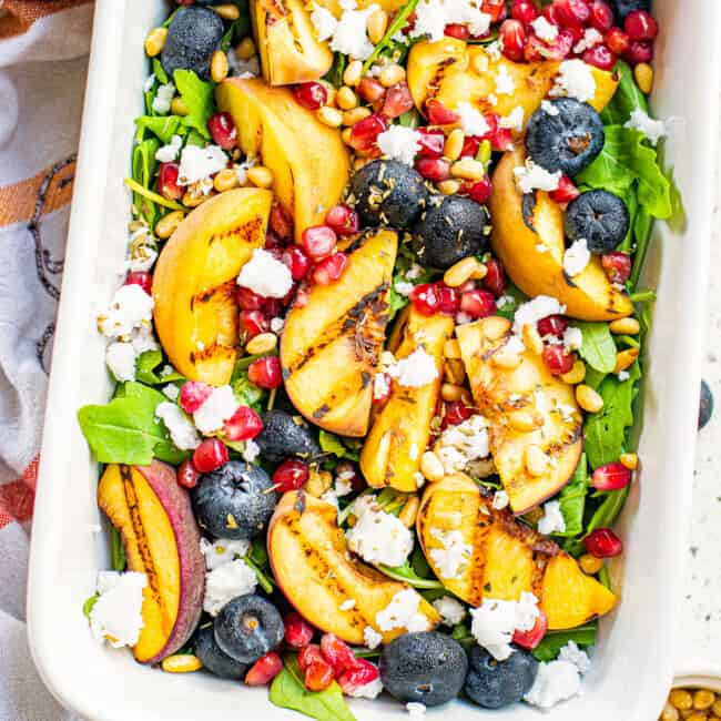 featured grilled peach salad