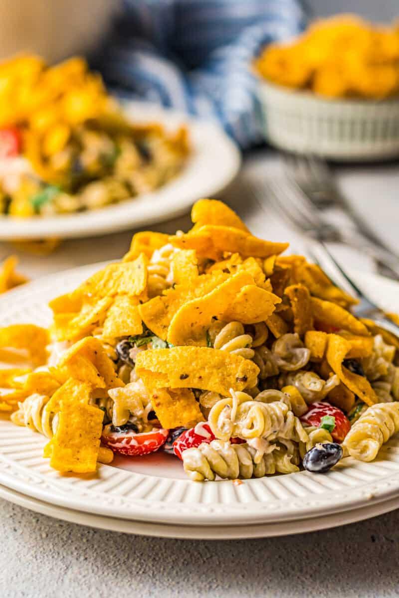 ranch chicken pasta salad with fritos