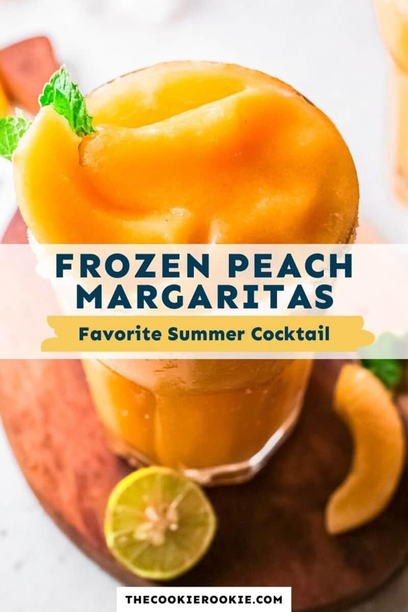 frozen peach margaritas pinterest collage