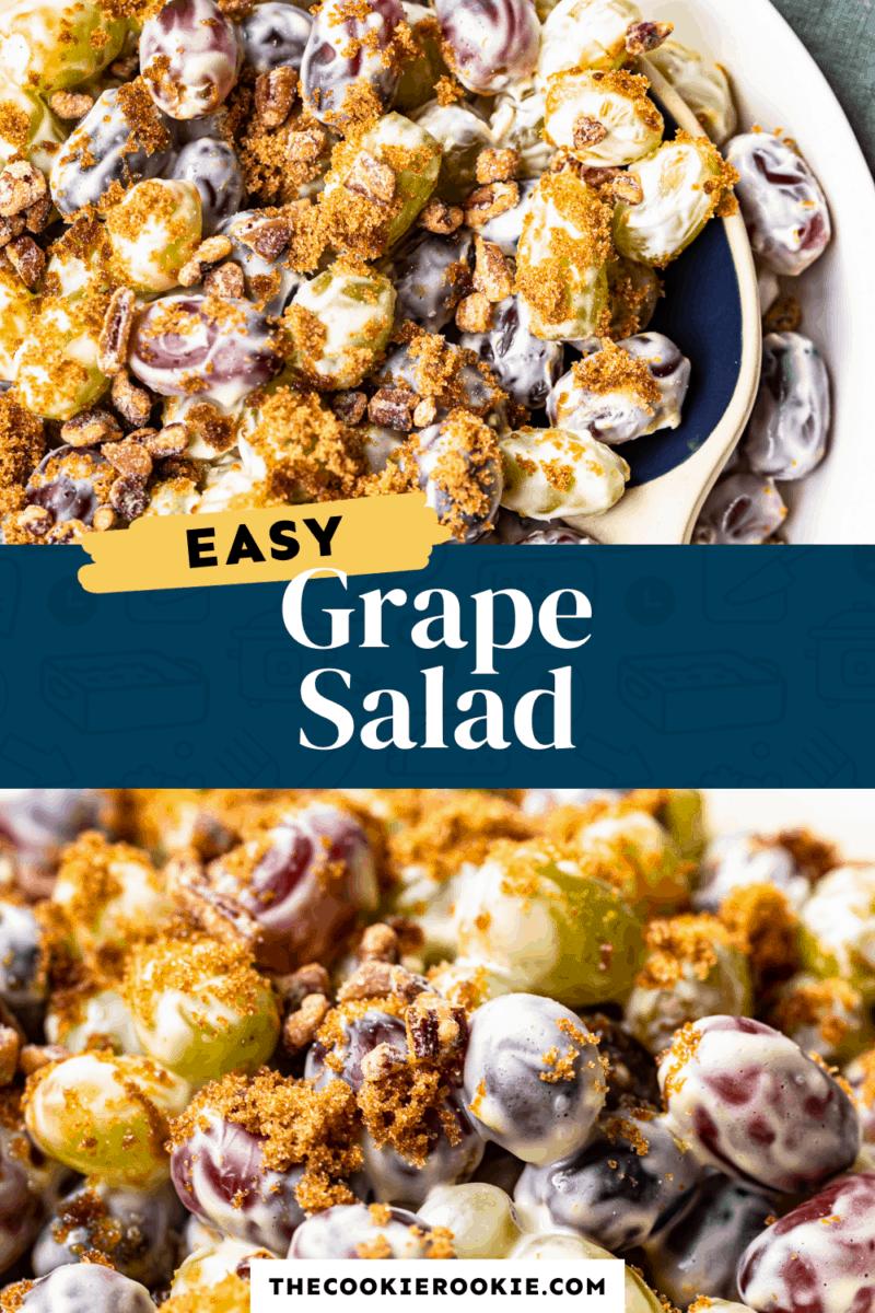 grape salad pinterest collage