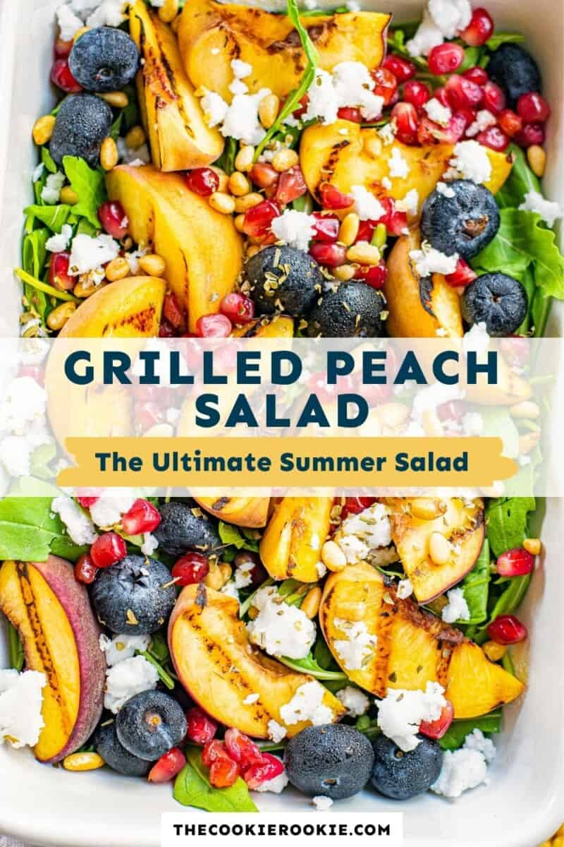 grilled peach salad pinterest collage