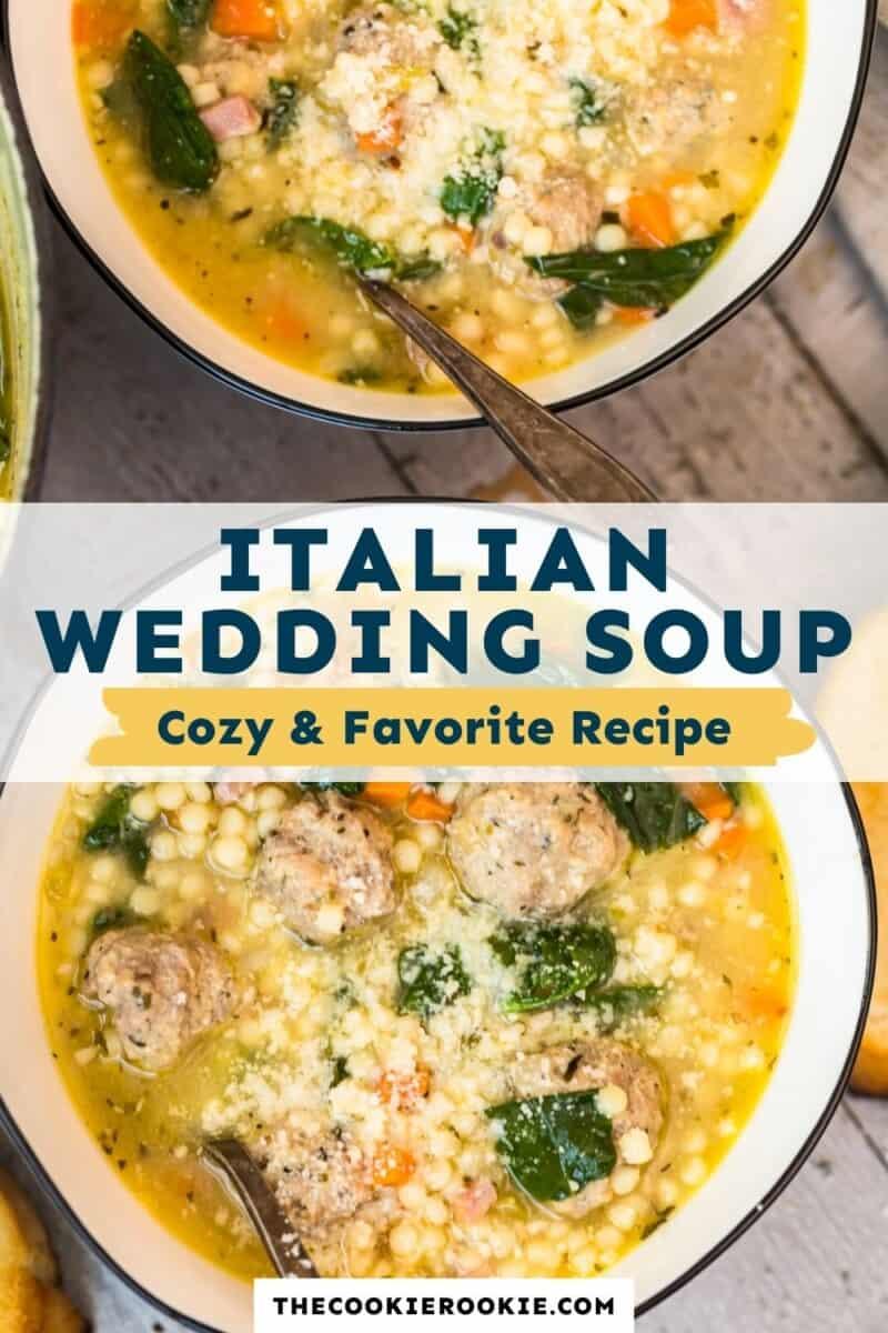 Italian Wedding Soup pinterest collage