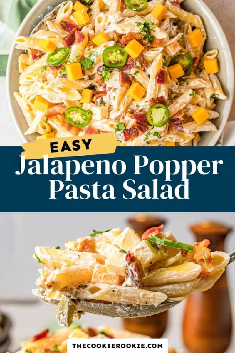 jalapeno popper pasta salad pinterest collage
