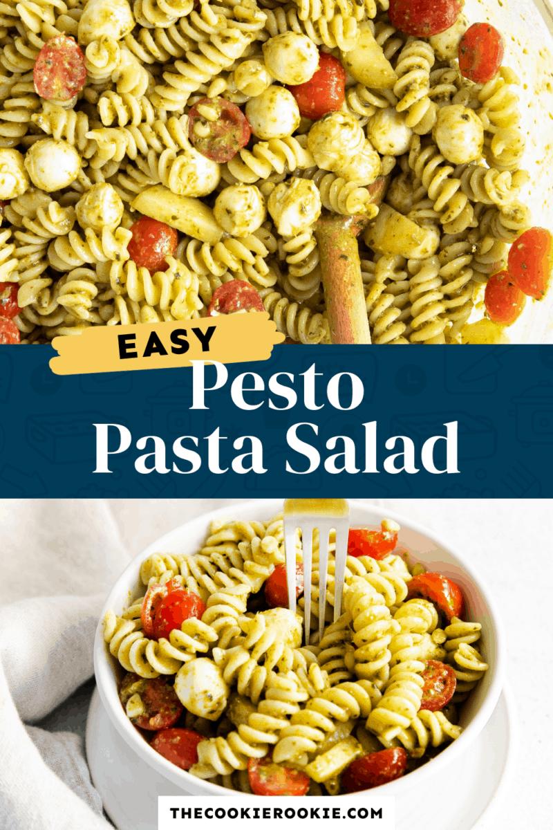 pesto pasta salad pinterest collage