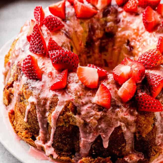 strawberry pound cake google poster image
