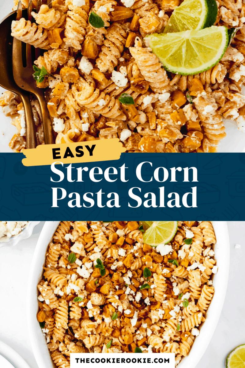 street corn pasta salad pinterest collage