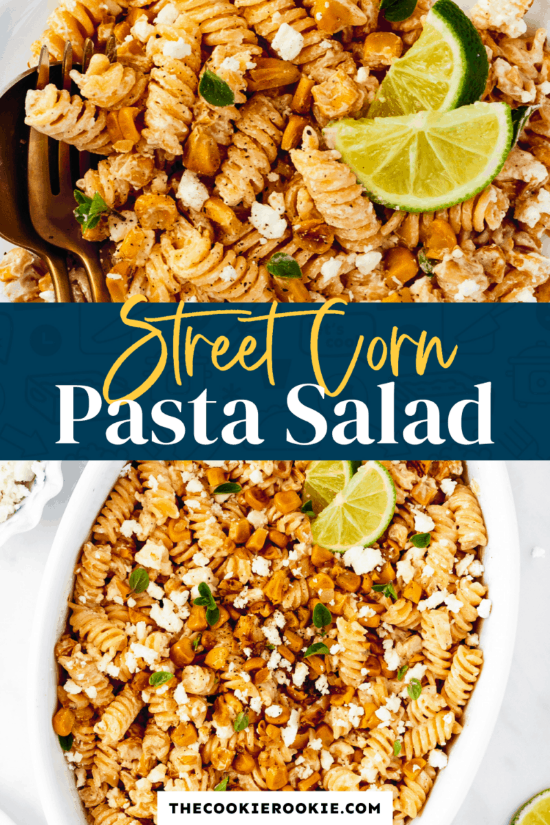 street corn pasta salad pinterest collage