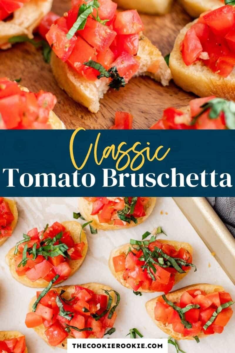 tomato bruschetta pinterest collage