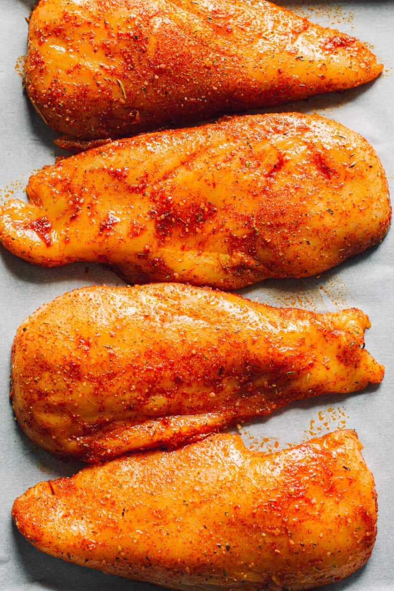 chicken breasts with spice rub