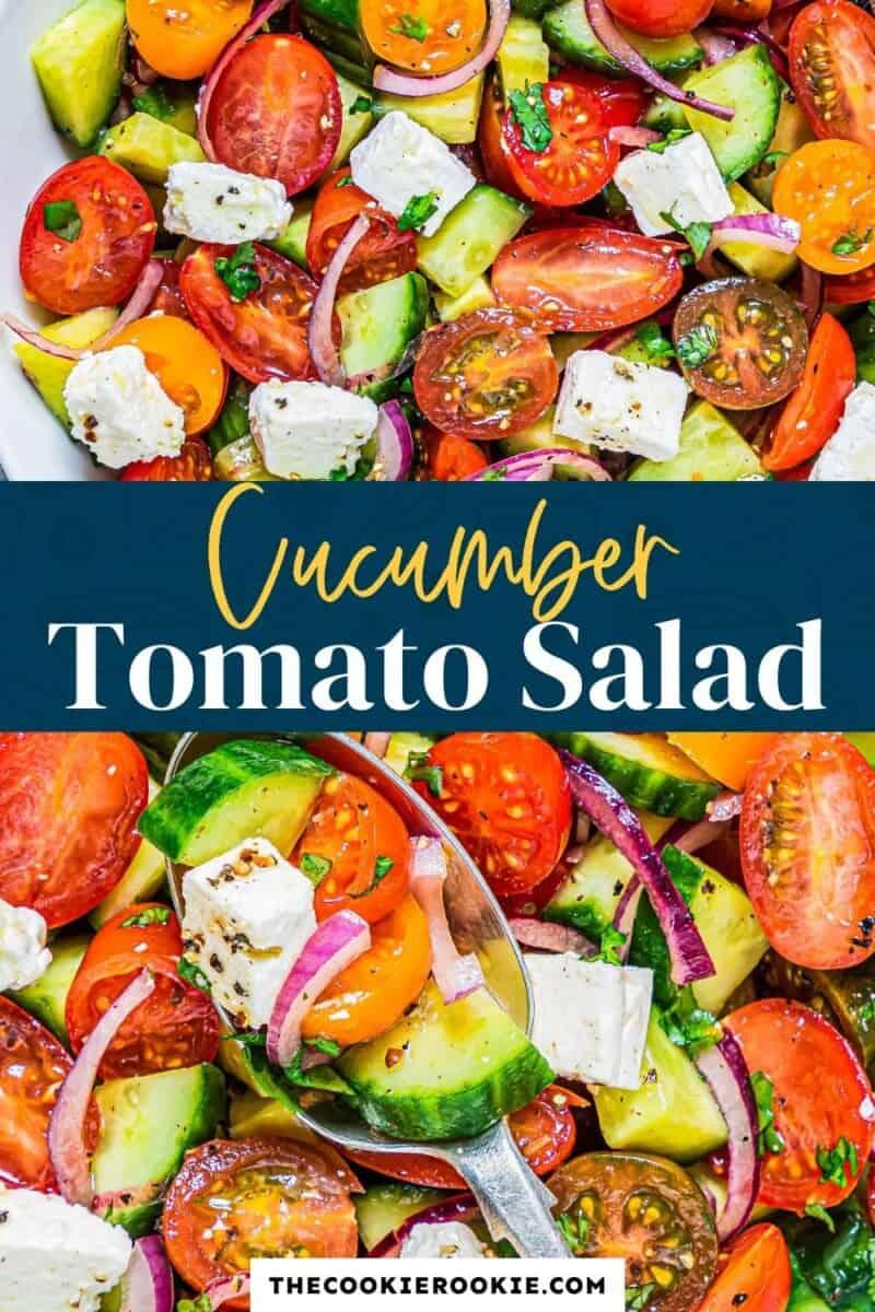 cucumber tomato salad pinterest