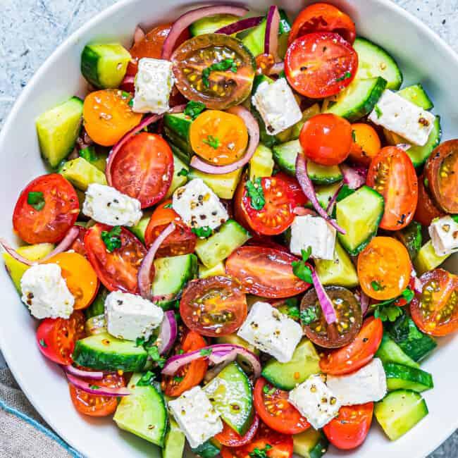 featured cucumber tomato salad