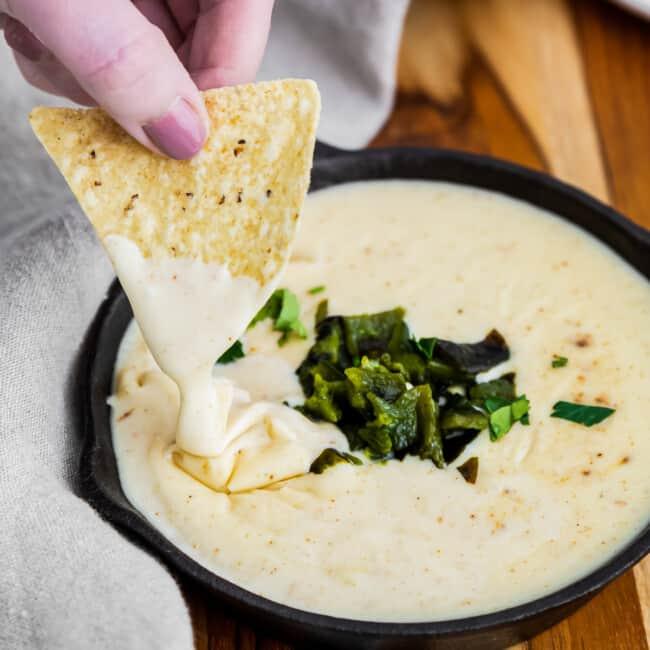 featured poblano queso