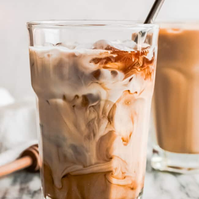 brown sugar iced espresso with cream