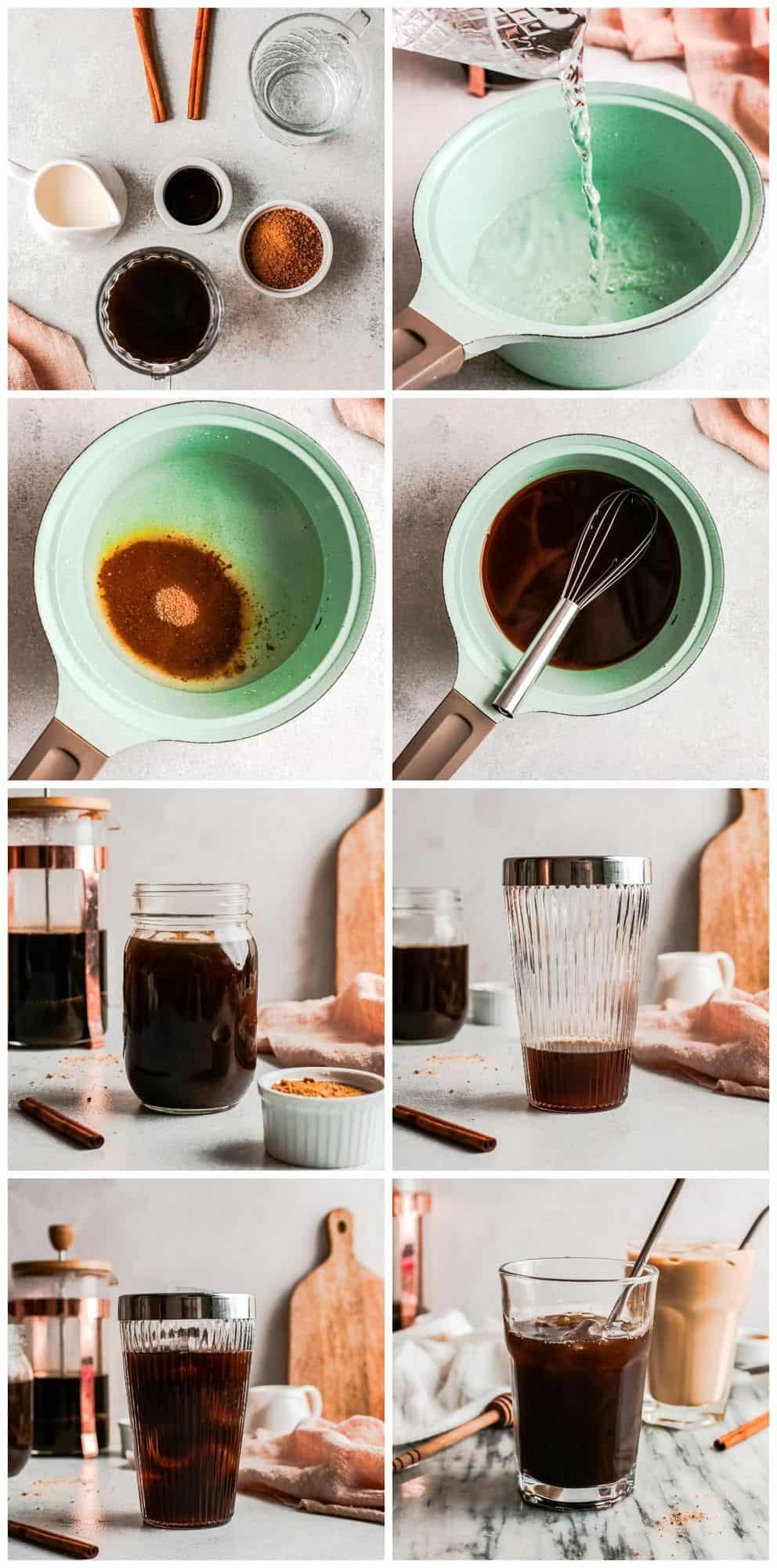 step by step photos for how to make iced espresso