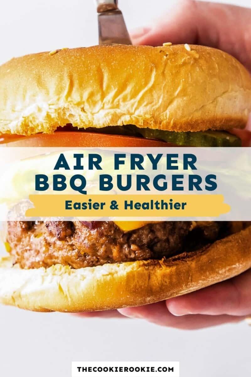 air fryer bbq burgers pinterest
