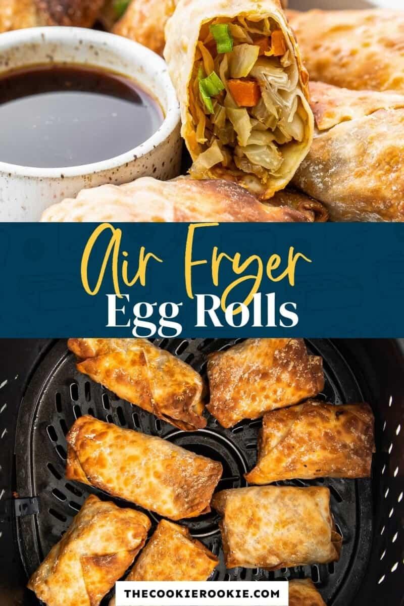 air fryer egg rolls pinterest