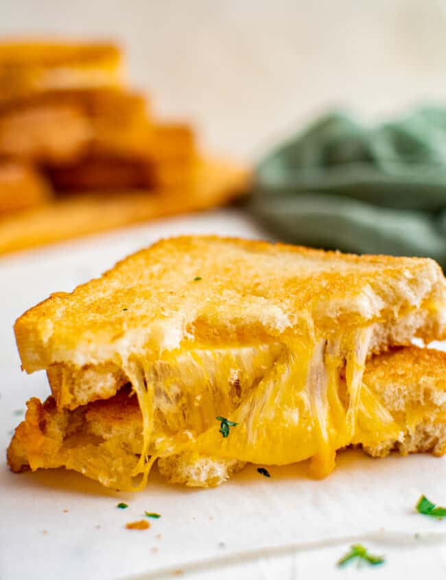 stacked air fryer grilled cheese