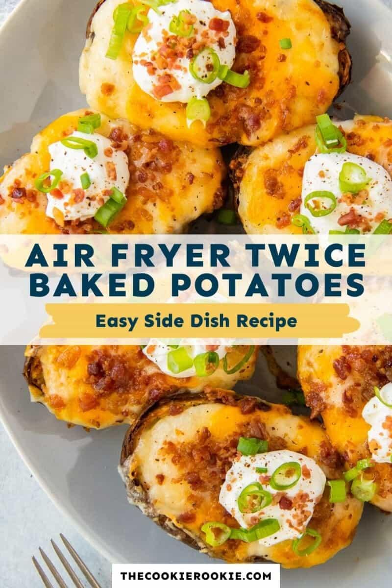 air fryer twice baked potatoes pinterest