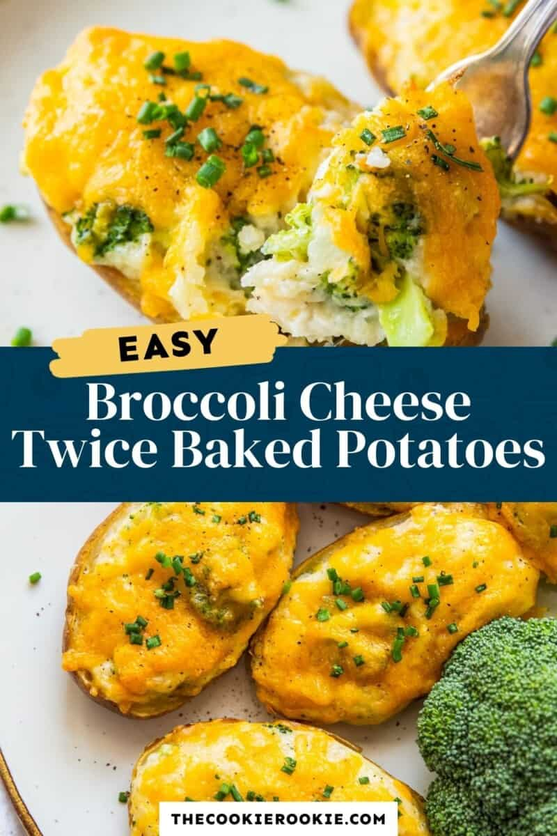 broccoli cheese twice baked potatoes pinterest