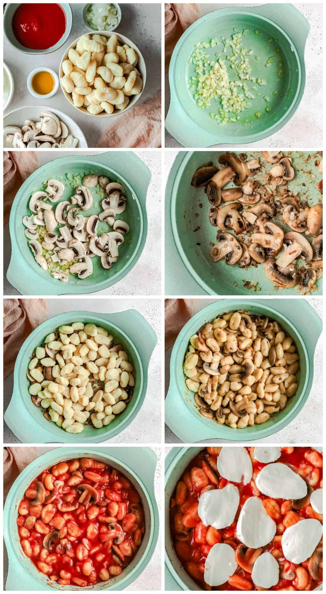 step by step photos for how to make baked gnocchi