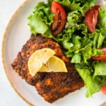 featured air fryer salmon
