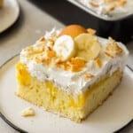 featured banana pudding poke cake