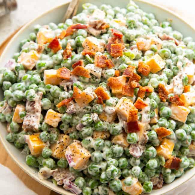 featured creamy pea salad