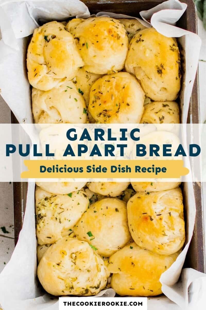garlic pull apart rolls pinterest collage