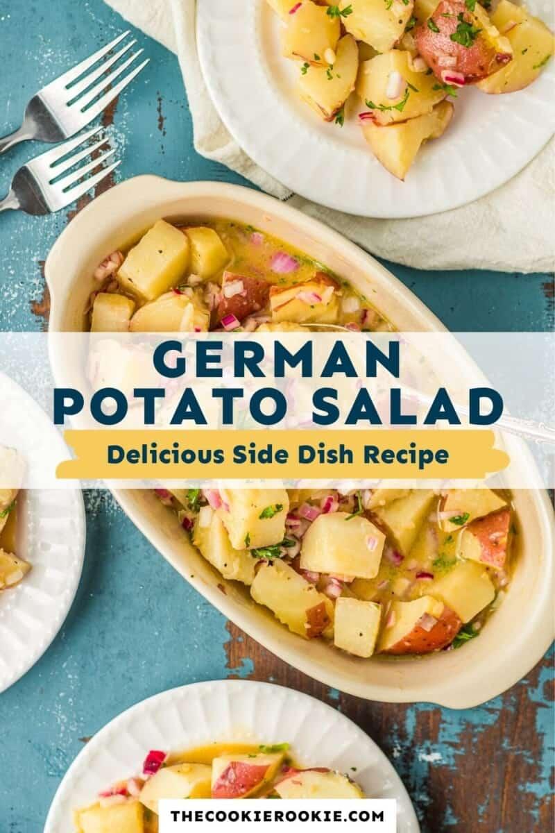 german potato salad pinterest collage