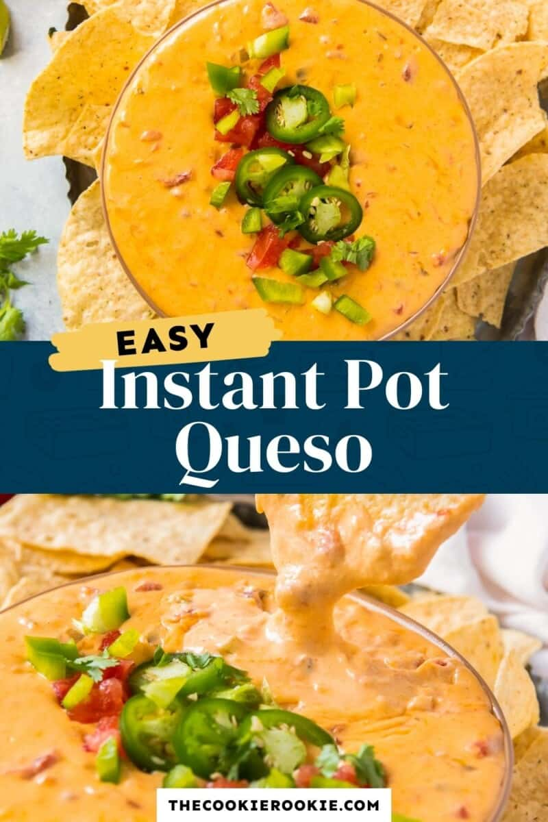 instant pot queso pinterest collage