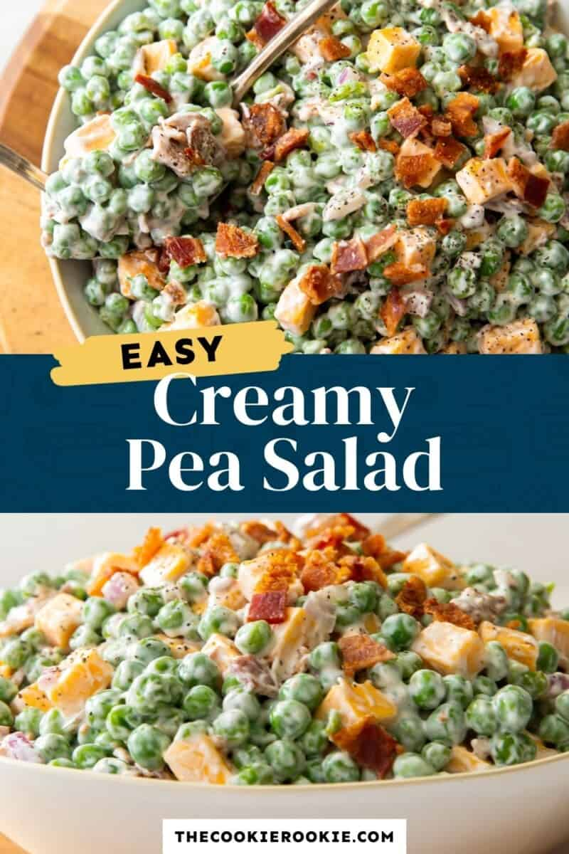 pea salad pinterest collage