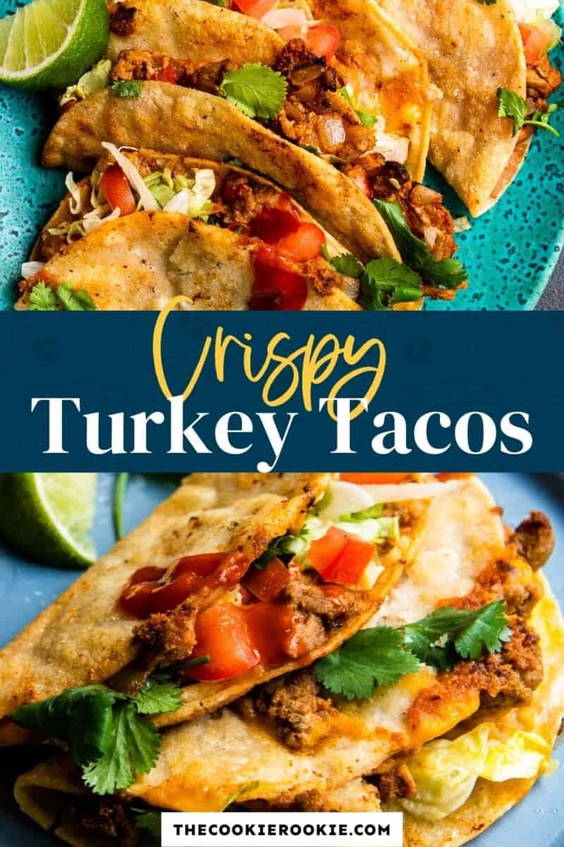 crispy turkey tacos pinterest