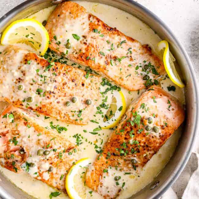 featured salmon piccata