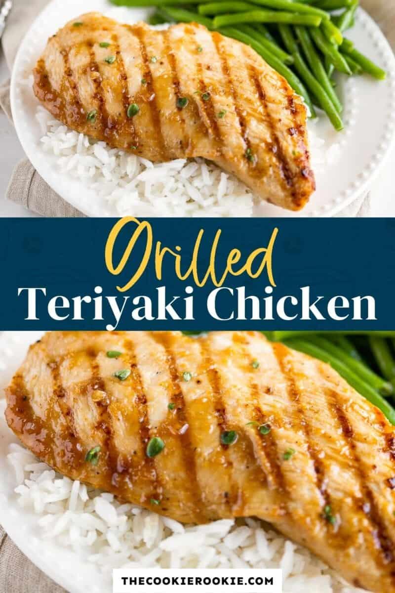 grilled teriyaki chicken pinterest
