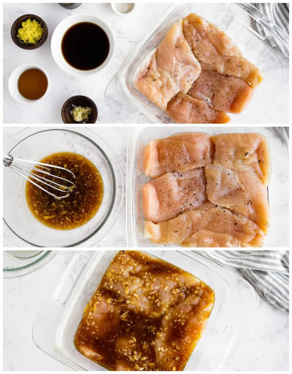 step by step photos of making grilled teriyaki chicken