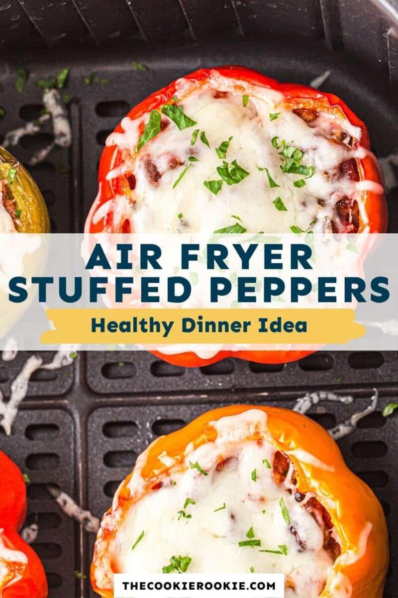 air fryer stuffed peppers pinterest