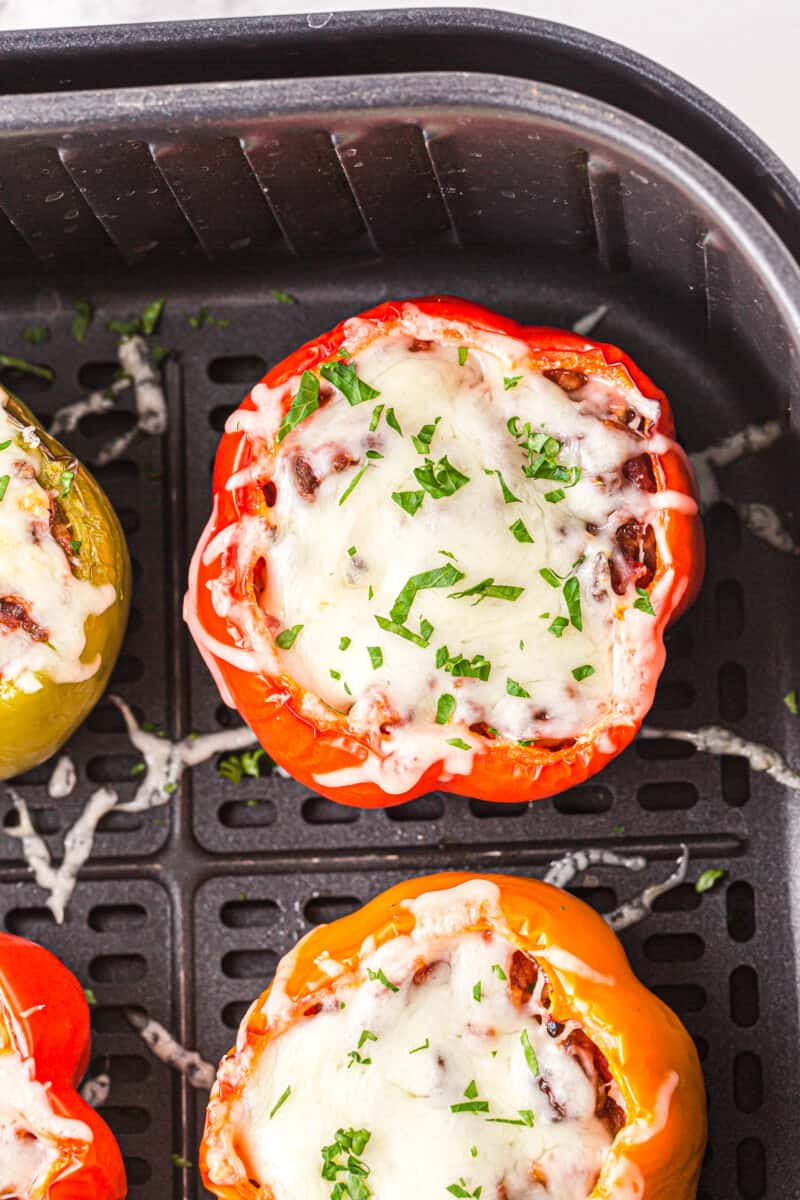 air fryer stuffed peppers in the air fryer