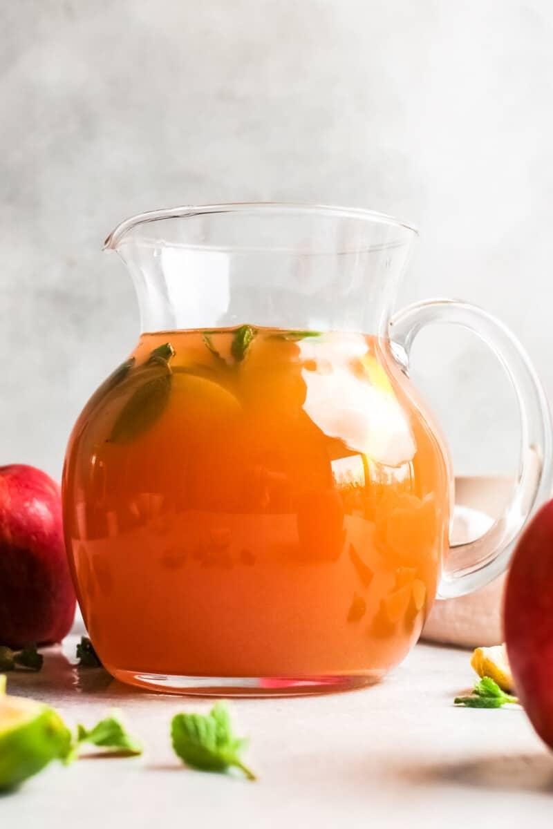 apple cider mojito pitcher