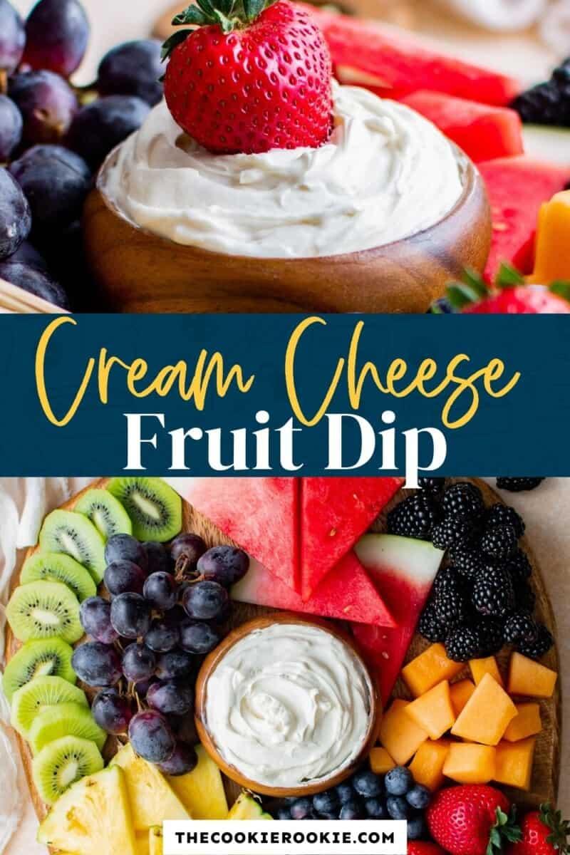 cream cheese fruit dip pinterest