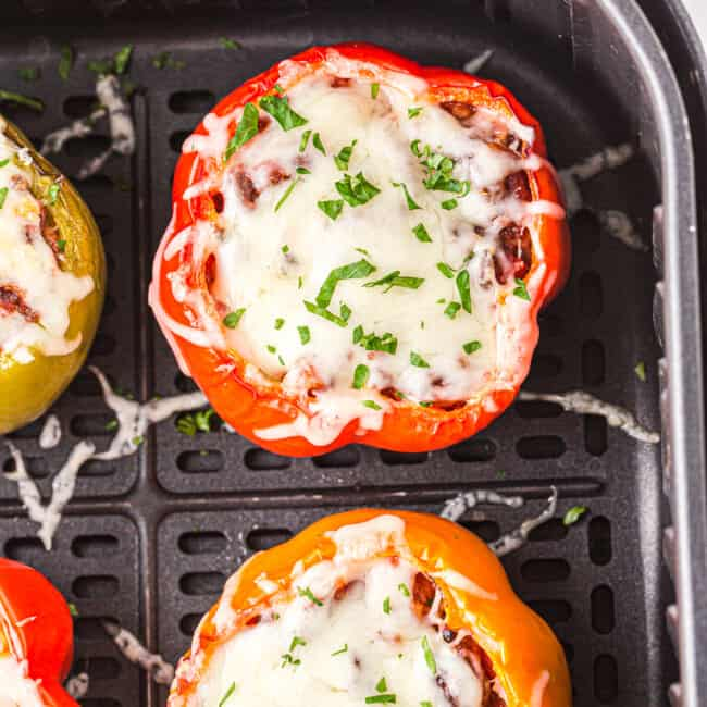 featured air fryer stuffed peppers