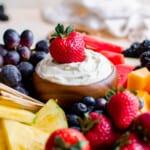 featured cream cheese fruit dip