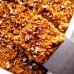 featured pumpkin pie baked oatmeal