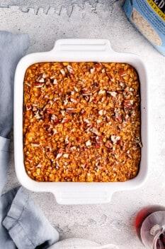 hot to make pumpkin pie baked oatmeal