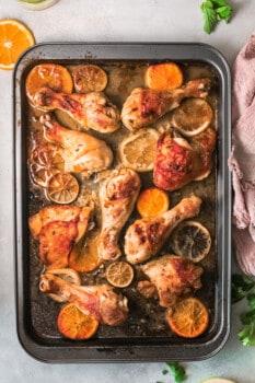 cuban mojo chicken on sheet pan