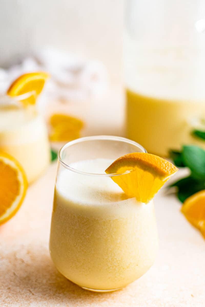 3 glasses of orange julius